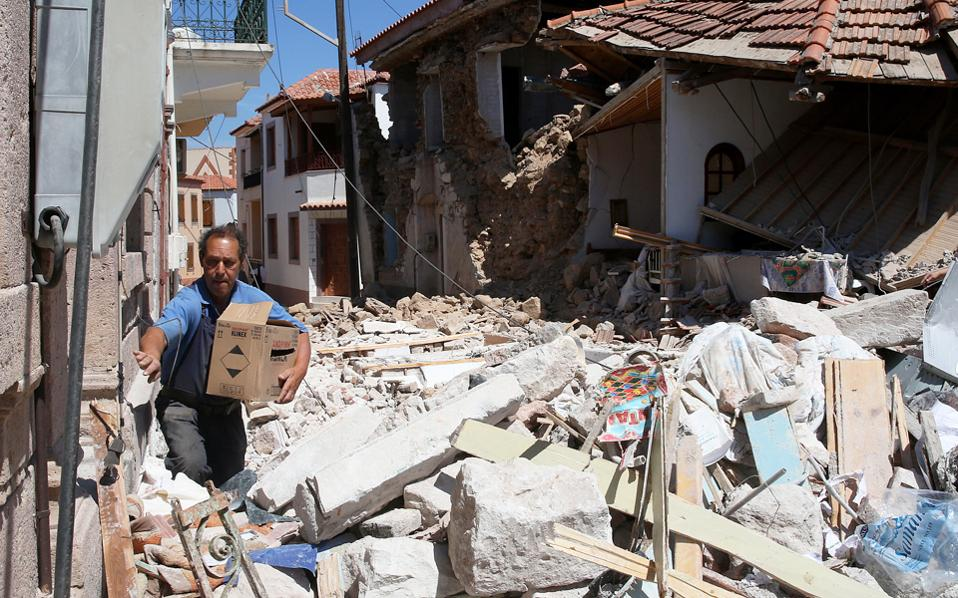 Τουλάχιστον 150 κτίσματα ακατάλληλα για χρήση στη νότια Λέσβο