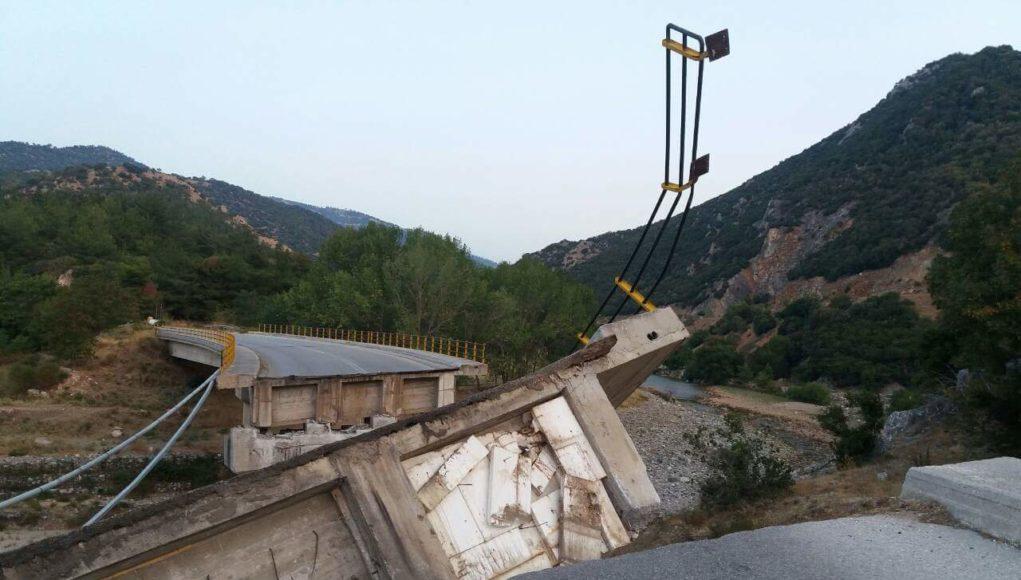 Κατάρρευση γέφυρας στον Πολύανθο Ροδόπης