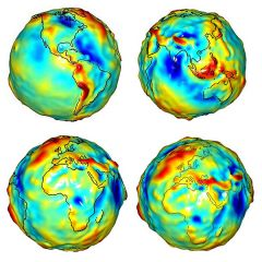 karto 005Η ακριβής χαρτογράφηση της βαρύτητας παίζει σπουδαίο ρόλο για την ακριβή μέτρηση της γης με τους ωκεανούς.Τα αποτελέσματα θα πιστοποιήσουν την άνοδο της στάθμης των υδάτων και τις αλλαγές των ροών σε σχέση με την αλλαγή του κλίματος.Στους π