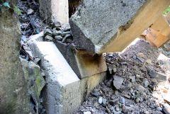 Τοξωτή Γέφυρα στον Μόρνο 3 (ορεινή Ναυπακτία) - λεπτομέρεια άρθρωσης τόξου