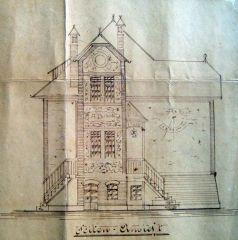 Villa Elisabeth 010 Πλάγια όψη A.D. (Anno Domini) 1898 και 5 η ωρα που βραδιάζει...