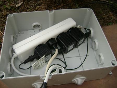 εξωτερικό κουτί για σύνδεση λαμπάκια εξωτερικού χώρου