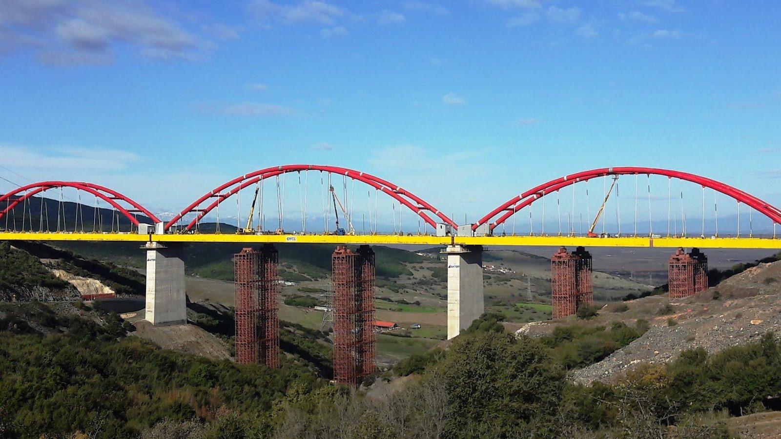 Οι δοκιμές φόρτισης για την παράδοση της Σιδηροδρομικής Γέφυρας Εκκάρας ΣΓ26